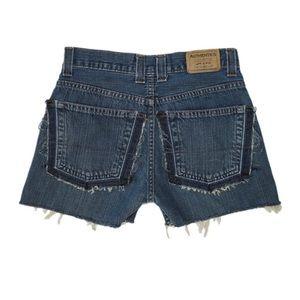 Reworked Dark Wash Denim Shorts